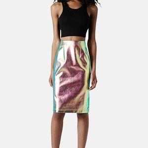 Topshop Mermaid Iridescent Pencil Skirt